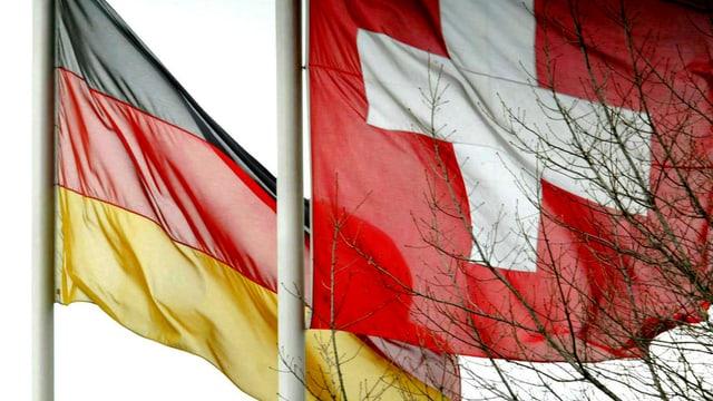 Bandiera da la Germania e da la Svizra.