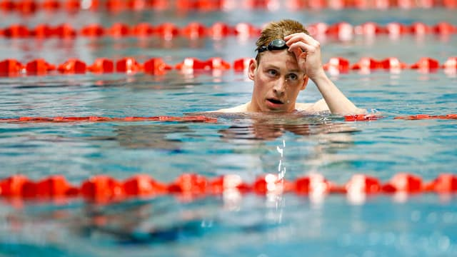 Schwimmer im Becken.