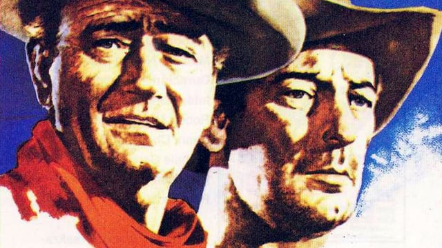 Zwei Männer mit Cowboy-Hüten.