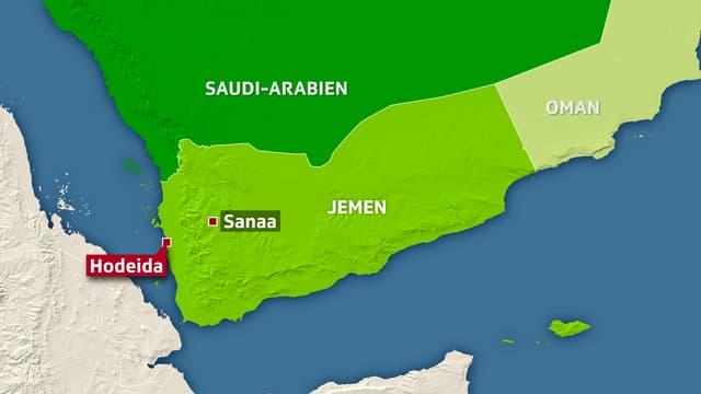 Kartenausschnitt Jemen