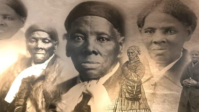 Verschiedene Abbildungen von Harriet Taubman.