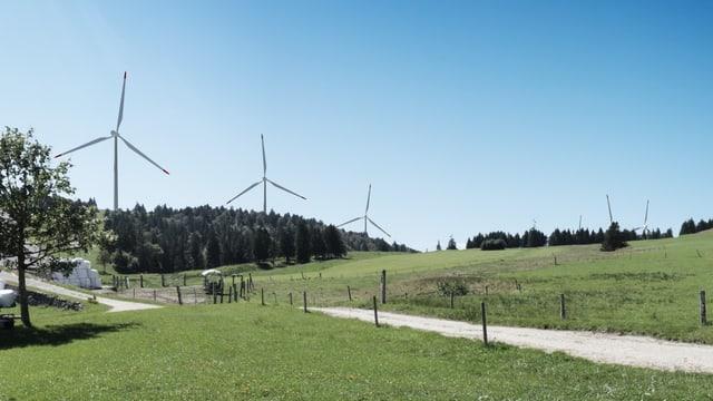 Windturbinen auf dem Grenchenberg