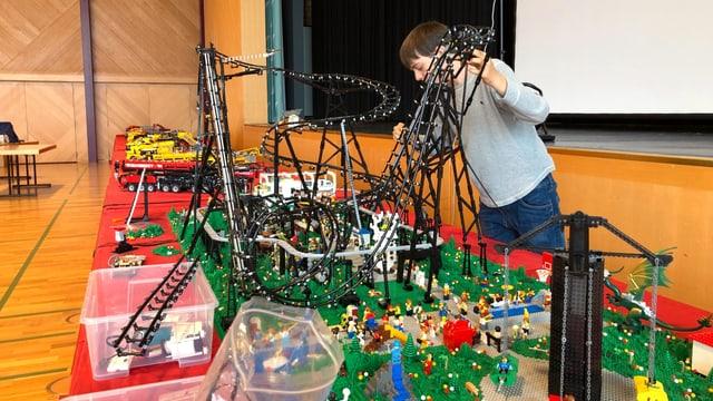 Lego-Ausstellung in Arbon, Aufbauarbeiten