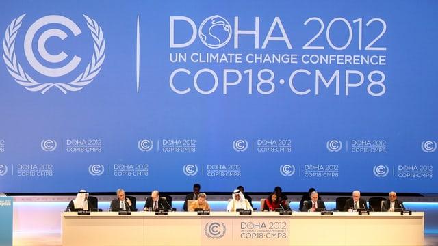Die Bemühung bei Uno-Klimakonferenzen wie hier im November 2012 in Doha, Katar, stehen seit Jahren in der Kritik.