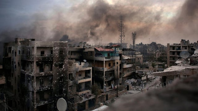 Aleppo, vom Krieg zerstört.