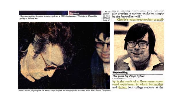 Ähnlichkeit zwischen John Lennons Mörder und Stephen King