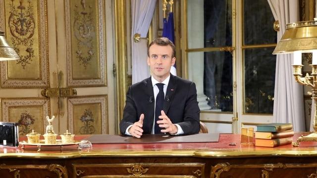 Il president franzos Emmanuel Macron.