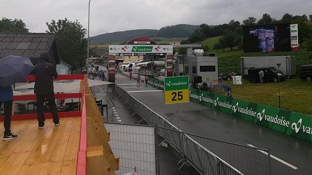 Zielraum der Tour de Suisse