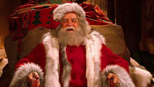 Santa Claus auf seinem Schlitten