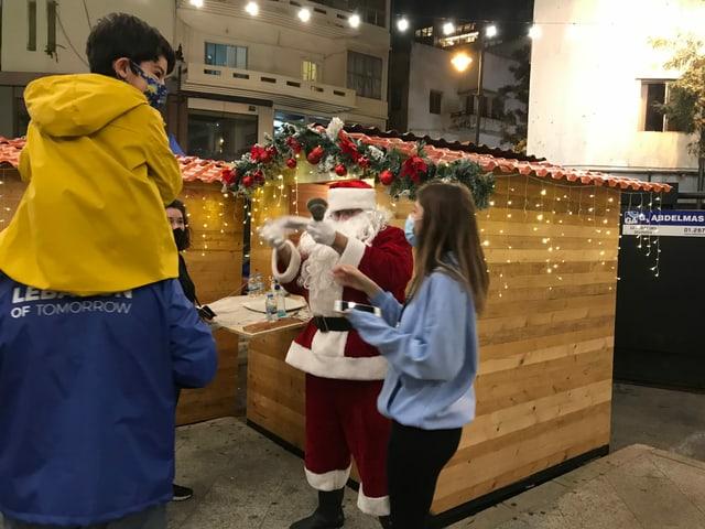 Weihnachtsstimmung in Beirut.