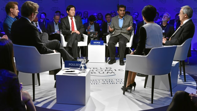 Diskussionsrunde am WEF