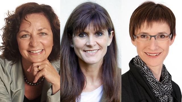 Regula Saner, Susanne Püschel und Vera Krähenmann