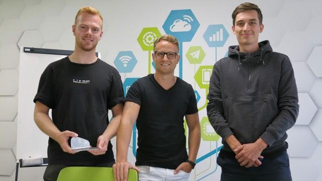 Joël Steiner, Michel Lüthi und Jonas Giger.