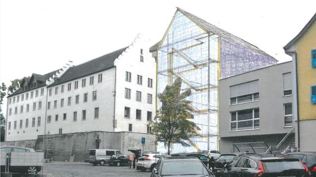 Der geplante Ergänzungsbau am Arboner Schloss.