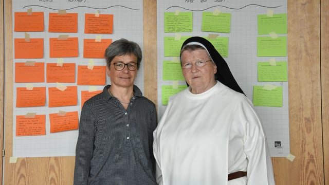 Rita Berther e la sora Madlen Büttler