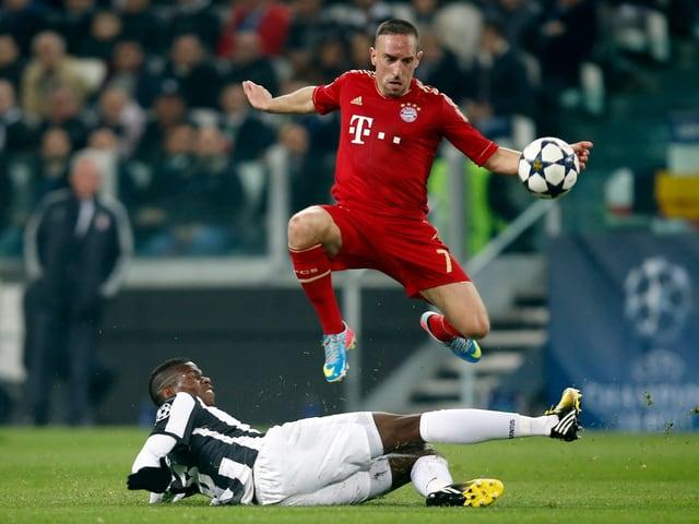 Franck Ribéry war die grosse Attraktion und kaum zu stoppen