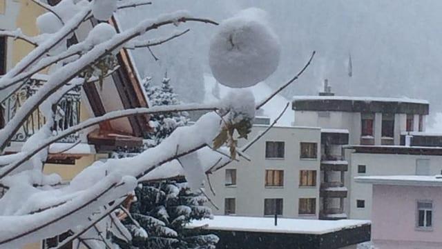 Verschneites Davos.