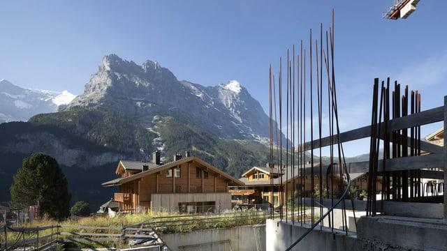 Baustellen gehören in Grindelwald zum Dorfbild schon fast dazu.