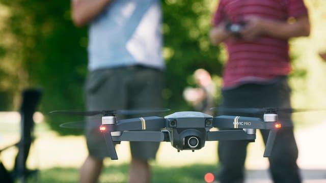 Persunas cun drona.