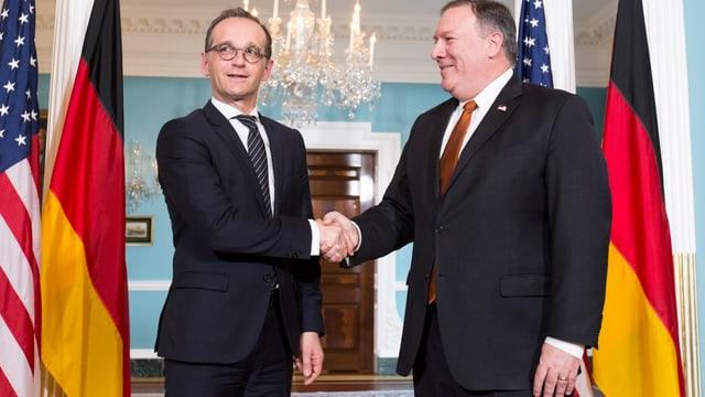 Der deutsche Aussenminister Heiko Maas und US-Aussenminister Mike Pompeo.