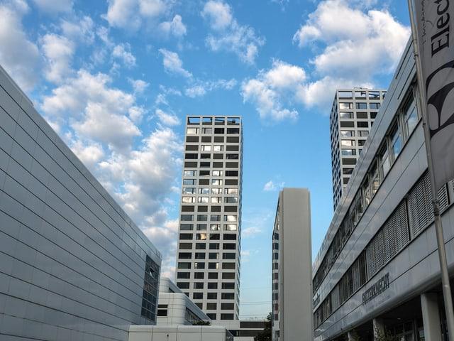 Die zwei neuen Hochhäuser im Westen von Chur.