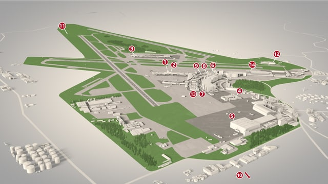Situationsplan Flughafen Zürich