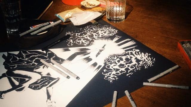 Zeichnung im Atelier