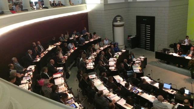 Blick in den Luzerner Kantonsratssaal.