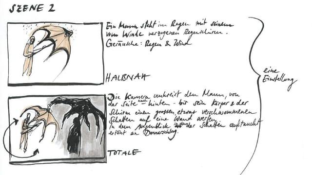 Ausschnitt aus dem Storyboard von Isadora Vogt.