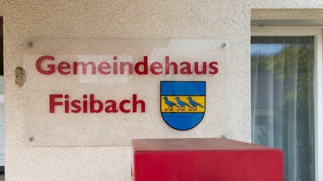 Schild Gemeindehaus Fisibach