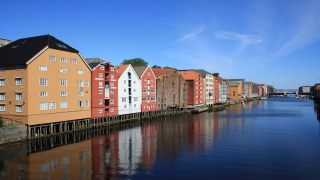 In Trondheim (Norwegen) gab es am Mittwoch 28 Grad.