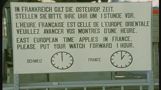 Aushang am Genfer Bahnhof.
