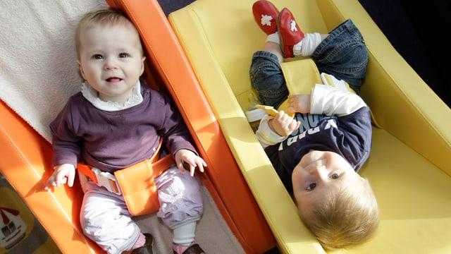Babys in Krippe