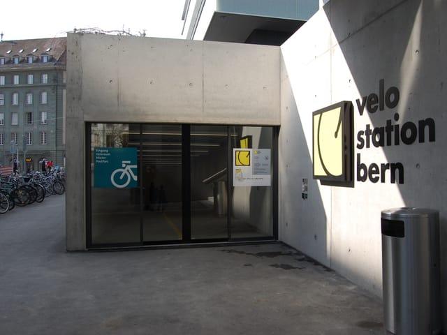 Die Zufahrt der neuen Velostation Bern.