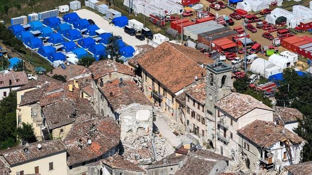 Vischnanca destruida da terratrembel.