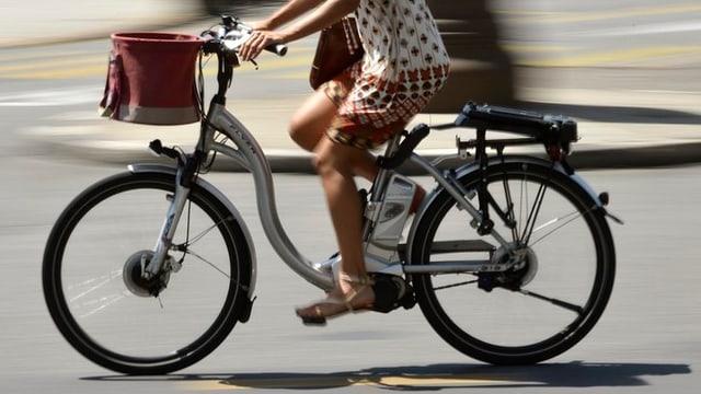 E-Bike in Fahrt
