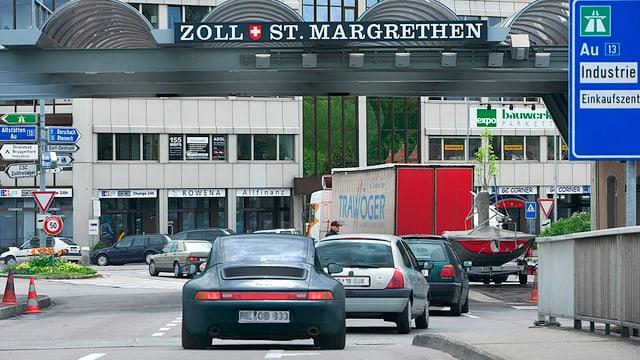 Erheblicher Mehrverkehr in St. Margrethen.
