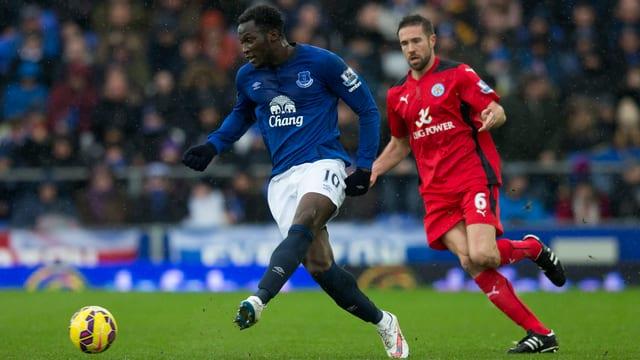 Gegen YB noch Dreifachtorschütze, am Sonntag glücklos: Evertons Romelu Lukaku (links).