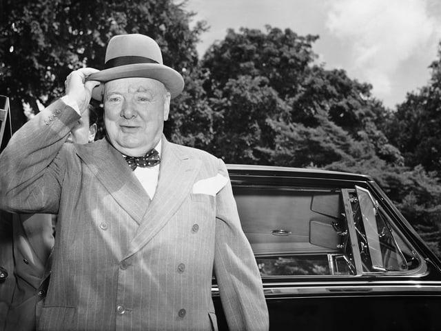 Zu sehen ist der ehemalige britische Premierminister Winston Churchill.