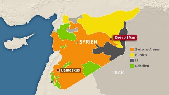 Syrien-Karte