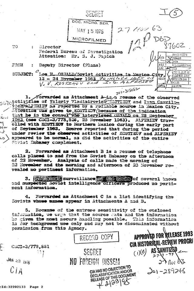 Dokument der Kennedy Files