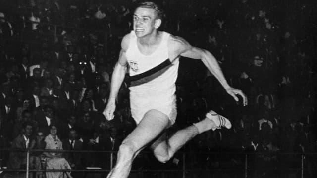 Armin Hary im Letzigrund 1960 während seines legendären Sprints