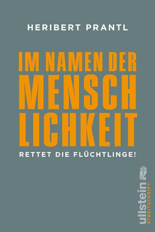 Buchcover: Grauer Grund, darauf orangene Schrift.