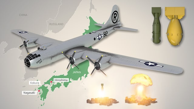 Infografik Atomangriff