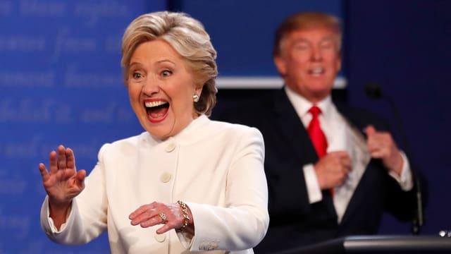 Hillary Clinton e Donald Trump: In cumbat electoral cun blers ups e downs.