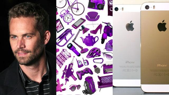 Collage aus Paul Walker, Ricardolino und iPhone
