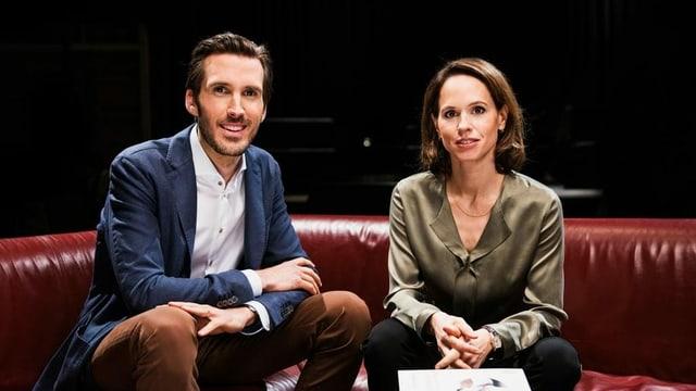 Moderatoren Yves Bossart und Barbara Bleisch