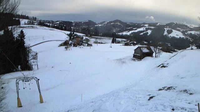 Blick auf die Webcam des Skilifts Ghöch bei Bäretswil.