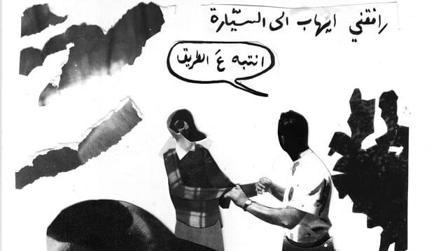 Ausschnitt aus einem arabischen Comic. Zu sehen ist er am Fumetto 2013.