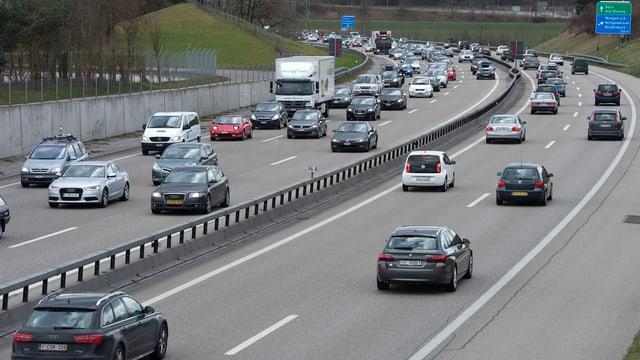 Autobahn bei Wangen